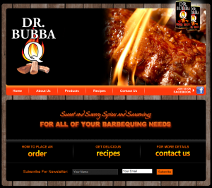 Food Product Web Design