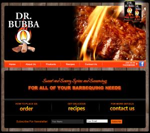Food Product Web Design